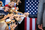 JACKSONVILLE, FL - AUGUST 03:  Supporters reach out to Republican presidential nominee Donald Trump after a rally at the Jacksonville Veterans Memorial Arena on August 3, 2016 in Jacksonville, Florida. (Photo by Mark Wallheiser/Getty Images)