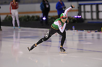 SCHAATSEN: CALGARY: Olympic Oval, 09-11-2013, Essent ISU World Cup, 500m, Ksenia Sadovskaya (BLR), ©foto Martin de Jong