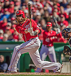 6 April 2014: Washington Nationals outfielder Jayson Werth in action against the Atlanta Braves at Nationals Park in Washington, DC. The Nationals defeated the Braves 2-1 to salvage the last game of their 3-game series. Mandatory Credit: Ed Wolfstein Photo *** RAW (NEF) Image File Available ***