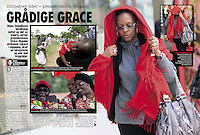 Scandinavian Newspaper, Vi Menn,, Jan 2009, showing the incident where Grace Mugabe attacked photographer Richard Jones. ©sinopix