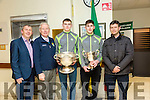 At the  Tralee Municipal District annual awards ceremony  on Friday,  in the Council chambers wereKerry Minors Football l-r Peter Keane, Christy Kileen, Diarmuid O'Connor, Micheal Reidy and Chris Flannery