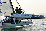 Diam 24 One Design, light, sporty, powerful, winged and designed to race with three or four people on board. The Diam 24OD is fast in light winds and confident in stronger breeze without the necessity for high level sporting prowess. The Diam 24 the new boat for the Tour de France &agrave; la Voile 2015.<br /> Banque Populaire, Skipper Armel Le Cl&eacute;ac&rsquo;H, crew: Ronan Lucas, Fabien Delahaye