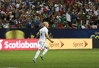 Atlanta, Georgia - Wednesday, July 22, 2015: Jamaica goes up 1-0 over the USMNT late in the first half during Semifinal play in the 2015 Gold Cup at the Georgia Dome.