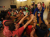 Olympians Lexi Weeks and Sandi Morris visit Butterfield Trail 8/26/2016