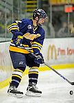 16 February 2008: Merrimack College Warriors' defenseman Fraser Allen, a Freshman from North Battleford, Saskatchewan, in action against the University of Vermont Catamounts at Gutterson Fieldhouse in Burlington, Vermont. The Catamounts defeated the Warriors 2-1 for their second win of the 2-game weekend series...Mandatory Photo Credit: Ed Wolfstein Photo