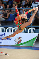 Irina Risenzon of Israel performs with ribbon at 2010 Holon Grand Prix at Holon, Israel on September 3, 2010.  (Photo by Tom Theobald).
