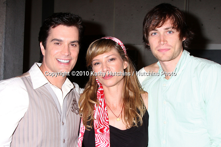 "Rick Hearst, Sarah Brown, and Zach Conroy.Guinness World Records®  presents THE BOLD AND THE BEAUTIFUL with the certification as the  ""Most Popular Daytime TV Soap - Current..Bold & Beautiful Set, Stage 31, CBS Televsion CIty.Los Angeles, CA.May 18, 2010.©2010 Kathy Hutchins / Hutchins Photo.."