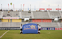 CONCACAF flag. Canada played Panama during the CONCACAF Men's Under 17 Championship at Catherine Hall Stadium in Montego Bay, Jamaica.
