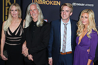 HOLLYWOOD, LOS ANGELES, CA, USA - DECEMBER 15: Cynthia Zamperini-Garris, Mick Garris, Luke Zamperini arrive at the Los Angeles Premiere Of Universal Pictures' 'Unbroken' held at the Dolby Theatre on December 15, 2014 in Hollywood, Los Angeles, California, United States. (Photo by Xavier Collin/Celebrity Monitor)