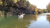 NWA Democrat-Gazette/FLIP PUTTHOFF <br /> Bluffs and forest with little signs of civilization are features Oct. 17, 2015 of a float down Bryant Creek.