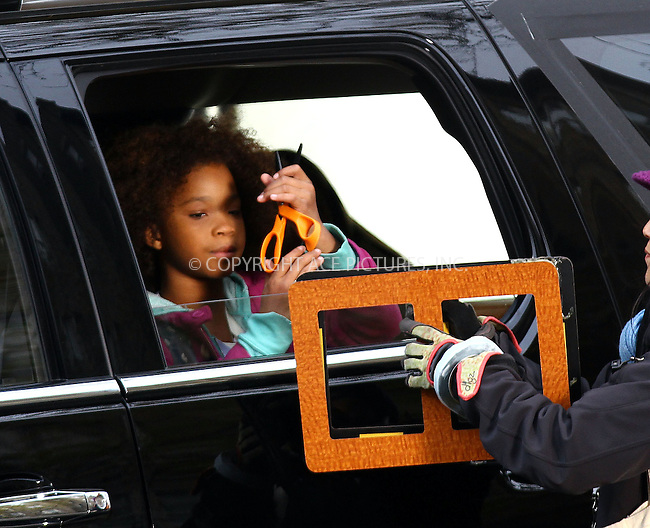 WWW.ACEPIXS.COM<br /> <br /> November 12 2013, New York City<br /> <br /> Actress Quvenzhan&eacute; Wallis on the set of the new movie 'Annie' in Harlem on November 12 2013 in New York City<br /> <br /> By Line: Zelig Shaul/ACE Pictures<br /> <br /> <br /> ACE Pictures, Inc.<br /> tel: 646 769 0430<br /> Email: info@acepixs.com<br /> www.acepixs.com