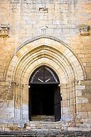 Ancient church at St Amand de Coly, Dordogne, Aquitaine, France