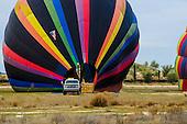 Stock photo of hot air balloons