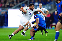 Billy Vunipola of England goes on the attack. RBS Six Nations match between France and England on March 19, 2016 at the Stade de France in Paris, France. Photo by: Patrick Khachfe / Onside Images
