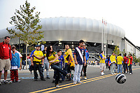 Kumho Tires. The men's national team of the United States (USA) was defeated by Ecuador (ECU) 1-0 during an international friendly at Red Bull Arena in Harrison, NJ, on October 11, 2011.