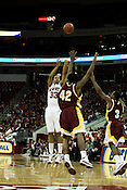 November 25, 2008. Raleigh, NC.. NC State vs. Winthrop.. Brandon Costner, center #33, had 12 points in the 26 point route of Winthrop.