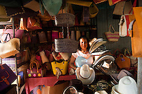 Hat and basket shop in Port Mathurin.