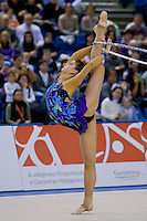 Dora Vass (HUN) performs with the hoop during the final of the 2nd Garantiqa Rythmic Gymnastics World Cup held in Debrecen, Hungary. Sunday, 07. March 2010. ATTILA VOLGYI