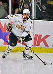22 November 2011: University of Vermont Catamount defenseman Drew MacKenzie, a Senior from New Canaan, CT, in action against the University of Massachusetts Minutemen at Gutterson Fieldhouse in Burlington, Vermont. The Catamounts defeated the Minutemen 2-1 in their annual pre-Thanksgiving meeting of the Hockey East season. Mandatory Credit: Ed Wolfstein Photo