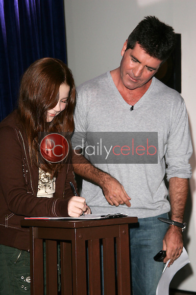 Bianca Ryan and Simon Cowell<br />