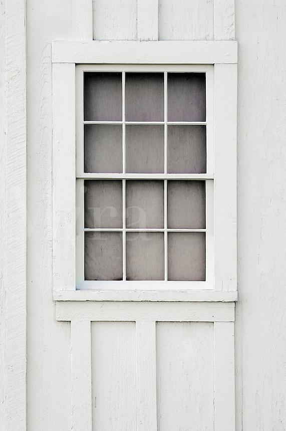 .   White window