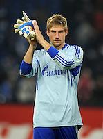 FUSSBALL   1. BUNDESLIGA   SAISON 2011/2012    9. SPIELTAG FC Schalke 04  - 1. FC Kaiserslautern                      15.10.2011 Torwart Lars UNNERSTALL (Schalke) ist nach dem Abpfiff enttaeuscht