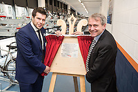 Robert Goodwill MP, Minister of State for Transport (right), pictured with Johnny Wiseman of East Midlands Trains at the official opening of Nottingham Railway Station's new secure Cycle Hub