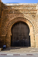 The Kasbah of the Oudayas is located at the mouth of the Bou Regreg river in Rabat, Morocco. The gate.