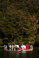 The Myojin-ike festival is held on the highland lake to pray for the safety of hikers and climbers in the North Japan Alps.