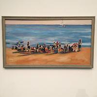 "Beach by John Kilduff, Framed Digital Canvas Print, 18"" x 32"" x  1"""