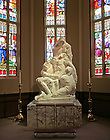 Pieta sculpture in the Basilica of the Sacred Heart..Photo by Matt Cashore