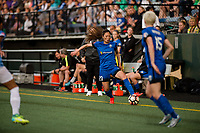 Seattle, WA - Sunday, May 21, 2017: Rumi Utsugi during a regular season National Women's Soccer League (NWSL) match between the Seattle Reign FC and the Orlando Pride at Memorial Stadium.