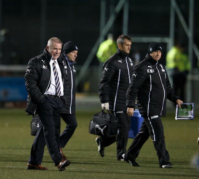 Ally McCoist walking off at half time