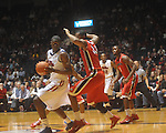 Ole MIss forward Reginald Buckner (2)  is defended by Georgia's Trey Tompkins (33) at the C.M. &quot;Tad&quot; Smith Coliseum in Oxford, Miss. on Saturday, January 15, 2011. Georgia won 98-76.  (AP Photo/Oxford Eagle, Bruce Newman)