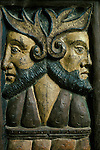 Janiform Heads. Sancreed Church, Cornwall, England.  MYSTERIOUS  Britain published by Orion