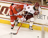 Jenn Wakefield (BU - 9), Kelli Stack (BC - 16) - The visiting Boston University Terriers defeated the Boston College Eagles 1-0 on Sunday, November 21, 2010, at Conte Forum in Chestnut Hill, Massachusetts.