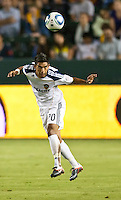 CARSON, CA – September 9, 2011: LA Galaxy defender A.J. DeLaGarza (20) during the match between LA Galaxy and Colorado Rapids at the Home Depot Center in Carson, California. Final score LA Galaxy 1, Colorado Rapids 0.