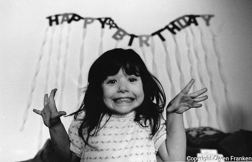 Thomasin Franken's birthday, age about ten..Photograph by Owen Franken