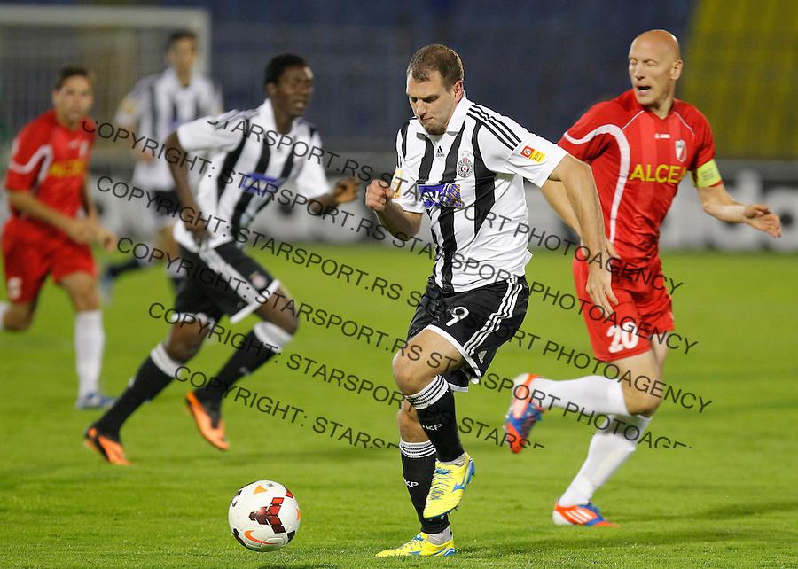 Fudbal Super liga season 2013-2014<br /> Partizan v Javor (Ivanjica)<br /> Nemanja Kojic (L) and Milovan Milovic<br /> Beograd, 05.10.2013.<br /> foto: Srdjan Stevanovic/Starsportphoto &copy;