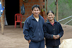 Justina Romero and her husband, Adolfo Torres, live in the Guarani indigenous village of Kapiguasuti, Bolivia. They and their neighbors started gardens with assistance from Church World Service, supplementing their corn-based diet with nutritious vegetables and fruits.