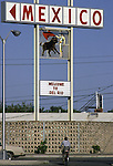 A signs welcomes those to the U.S. Border in Del Rio, Texas.  While the traditional mission of the United States Border Patrol has always been the detection and prevention of the illegal entry of aliens and smuggling of illegal contraband into the United States anywhere other than a designated port-of-entry, the dawn of the age of terrorism within our nation has added a new and high priority mission: to detect and prevent the entry of terrorists and their weapons into the United States. Jim Bryant Photo..&copy;2006. All Rights Reserved.