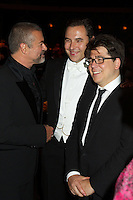 George Michael, David Walliams and Michael McIntyre at Elton John's White Tie and Tiara Ball