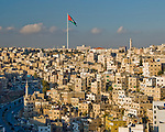 The worlds tallest free-standing flag pole (topped by what must be one of the largest flags) overlooks Amman, Jordan.  © Rick Collier