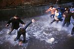 Shrove Tuesday Football, Ashbourne, Derbyshire. UK