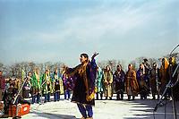 Cultural celebration of 26th January (Republic day of India) at Srinagar stadium. Kashmir valley, India