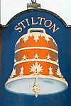 The Bell [public house]  Stilton. Village pub sign. Cambridgeshire UK 2008.