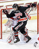 Stephanie Gavronsky (NU - 44) - The Northeastern University Huskies tied Boston University Terriers 3-3 in the 2011 Beanpot consolation game on Tuesday, February 15, 2011, at Conte Forum in Chestnut Hill, Massachusetts.