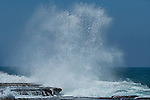 Water splash at the beach in Oualidia, Atlantic coast, Morocco.