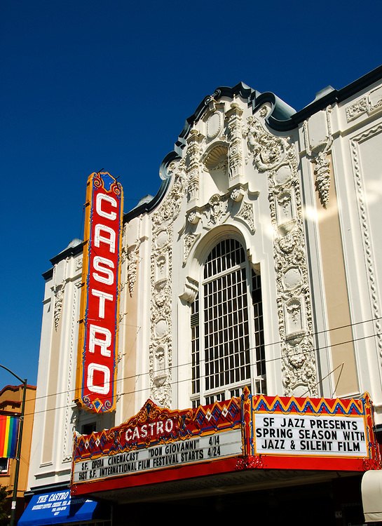 California, San Francisco: The Castro Theatre, an architectural landmark in the Gay Castro..Photo #: 27-casanf79068.Photo © Lee Foster 2008