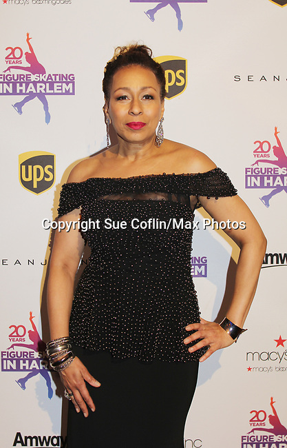 As The World Turns' Tamara Tunie is emcee at Figure Skating in Harlem celebrates 20 years - Champions in Life benefit Gala on May 2, 2017 at 583 Park Avenue, New York City, New York. (Photo by Sue Coflin/Max Photos)